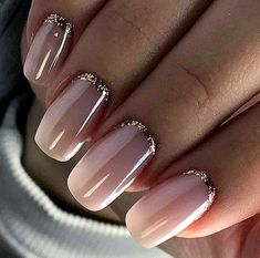 Wedding Nails Beautiful and Elegant Nail Designs Wedding Nails: Beautiful and Elegant Nail Designs: Weddings are a very special event that allows us all to wear stunning dresses and look pretty. Nails are no exception. Elegant Nail Designs, Elegant Nails, Nail Art Designs, Cute Nails, Pretty Nails, Hair And Nails, My Nails, Uñas Fashion, Wedding Nails Design