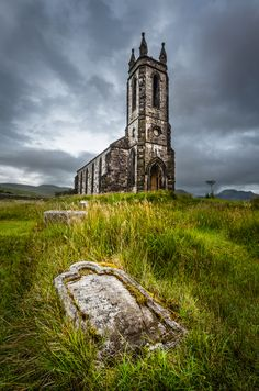 Dunlewey Church - Dunlewey, Ireland – Alan Owens  Website: www.alanowensphotography.com  After the morning spent photographing Fanad Lighthouse on the north coast of County Donegal I headed for Gweedore and the little village of Dunlewe