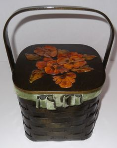 Vintage Basket Weave Wood Purse Vintage Purse