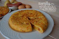 TORTILLA DE PATATA CON CHORIZO