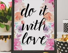 Poster Aquarela Love