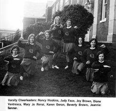 1968 Conrad cheerleaders while I was at Conrad