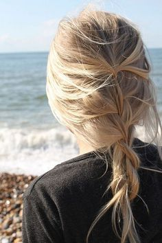 lose french braid:   Keep a loose French braid in place without a hair tie by backcombing the very end of the tail.