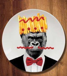 Achetez l'assiette Wild Dining - Gorille sur lavantgardiste.