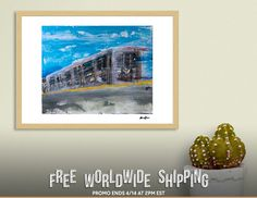 Discover «Moving A Train on NYC MTA Platform», Numbered Edition Fine Art Print by Alicia Jones - From $19 - Curioos