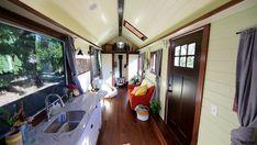Victorian Tiny House, a custom tiny house on wheels built by Tiny Heirloom in Oregon City, Oregon (pinned by haw-creek.com)