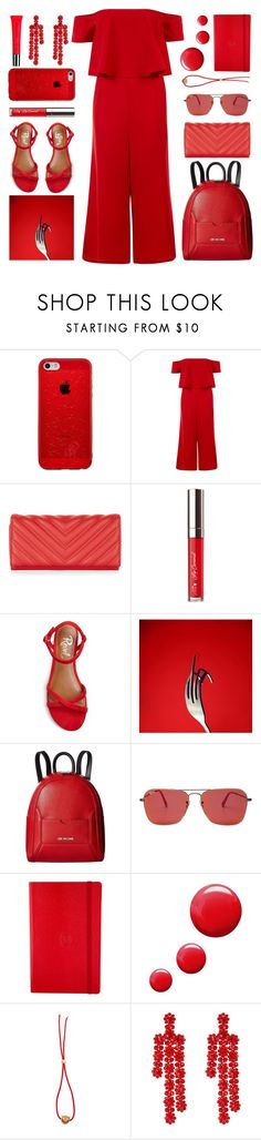 """RED"" by foundlostme ❤ liked on Polyvore featuring New Look, Revel, Love Moschino, Ray-Ban, Parmigiani, Topshop, Ruifier, Simone Rocha, Burberry and monochrome"