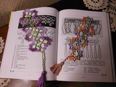 Basket Edge bookmark (pattern from Rachael Mohler) and Waves (pattern from Barbara Foster's Tatted  Bookmarks for Needle & Shuttle.  Myn own tatting