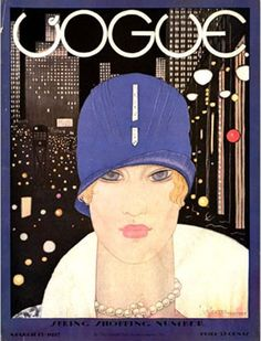 Vogue US Cover - March 1927 - Lee Miller illustrated by Georges Lepape