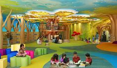 """Singapore – """"My Tree House"""", the World's 1st Green Library for Kids opens its doors to library visitors Friday at the Central Public Library. The National Library Board (NLB…"""