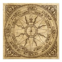 Antique Compass Rose