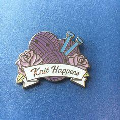Knit Happens Enamel Pin