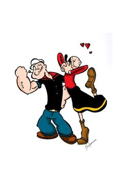 Popeye and Olive Oyl Popeye Cartoon, Cartoon Tv, Cartoon Shows, Classic Cartoon Characters, Classic Cartoons, Looney Tunes Cartoons, Disney Cartoons, Cartoon Kunst, Cartoon Drawings