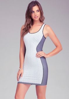 Accentuate your curves with this super sexy bebe bodycon dress. And its on sale that's a win win