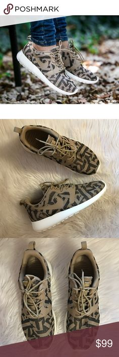 OFFER ME☃️Women's Nike Roshe One Desert Camo Brand new with box but no lid. Nike Shoes Athletic Shoes