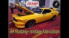 @SEMA 2017 #1969 Mustang Coyote Supercharged  by Vintage Fabrication for...