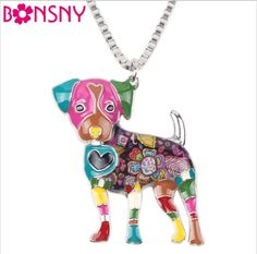 Stylish & Fun Bonsny Jack Russell Dog Pendant Necklace – Four Paw Pals
