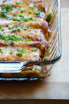 Chicken, Corn, and Bell Pepper Enchiladas 2