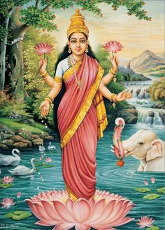 Lakshmi from 'Beauty, Power & Grace: The Book of Hindu Goddesses' By Krishna Dharma