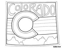 50 Nifty United States coloring pages. They have every state and a different design for each. This is cute!