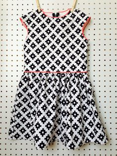 Lotta Dress pattern by Compagnie M. + Riley Blake fabric.