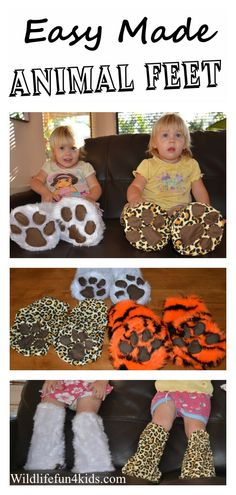 Easy Made Animal Feet- just in time for #Halloween!