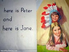 Peter and Jane.  Too funny!  These books were my learning to read books at school.