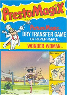 Presto Magix Transfers.  I had forgotten about these.  They were great entertainment for long car trips.