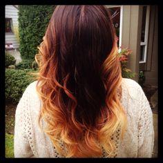 Fall ombré hair color