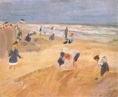 Max Liebermann - The Beach at Nordwijk, 1908, oil on canvas