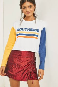 Shop BDG Southside Long Sleeve Cropped T-Shirt at Urban Outfitters today. We carry all the latest styles, colours and brands for you to choose from right here.