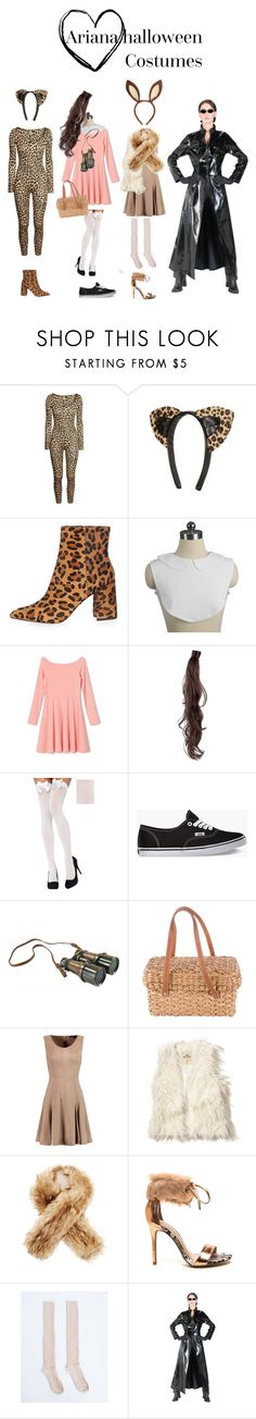"""""""Ariana Halloween costumes"""" by screamqueengabi ❤ liked on Polyvore featuring H&M, Topshop, WithChic, Rapunzel Of Sweden, Vans, Authentic Models, Kate Spade, Halston Heritage, Hollister Co. and Buji Baja"""