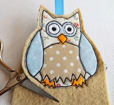 SewforSoul ~ Appliqued Felt Owl Charm with Full Tutorial