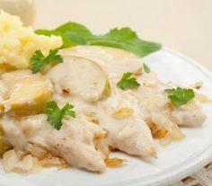 Cómo hacer pollo en salsa blanca