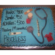 Nursing school cake