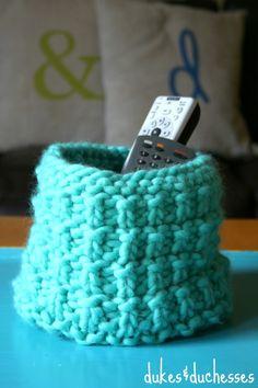 easy DIY knit basket