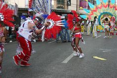 Carnival is a huge event in Trinidad second only to the one in Rio. There are two major parade areas, the largest is in the Capitol Port of Spain, but the funnest is in San Fernando. Picture from Carnival in Trinidad, A White Man's Guide!