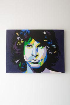 BLUE JIM MORRISON Jim Morrison, Artwork, Blue, Painting, Work Of Art, Auguste Rodin Artwork, Painting Art, Artworks, Paintings