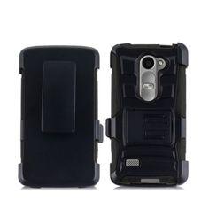 For LG Leon 4G LTE C40 H340N Rugged Hybrid Hard Belt Clip Phone Case Cover Stand - http://phones.goshoppins.com/phone-accessories/for-lg-leon-4g-lte-c40-h340n-rugged-hybrid-hard-belt-clip-phone-case-cover-stand/