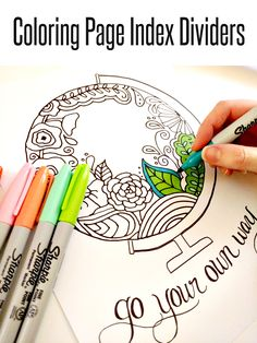 Colorful Binder Organization | Crafting in the Rain