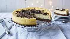 Mary Berry's White Chocolate and Ginger Cheesecake from The Great British Bake Off: Christmas. This dessert is perfect for jazzing up the dessert selection at Christmas.