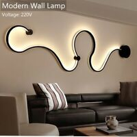 Newest Creative Acrylic Curve Light Snake LED Lamp Nordic Led Belt Wall Sconce For Decor Bedside Wall Lights, Led Wall Lamp, Wall Sconces, Bedside Lamp, Interior Room Decoration, Home Decor, Curved Walls, Led Chandelier, Creative Walls