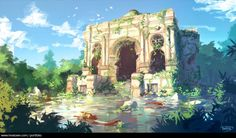 Toulouse church, Sylvain Sarrailh on ArtStation Fantasy Art Landscapes, Fantasy Landscape, Landscape Art, Environment Concept Art, Environment Design, Fantasy Places, Fantasy World, Fantasy Rpg, Landscape Concept