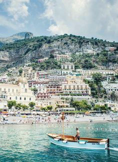 Positano, Italy, boats, sea, colorful houses