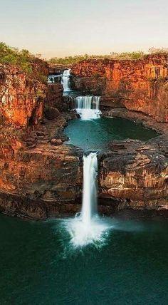 Devil's Punch Bowl Falls in Arthur's Pass, New Zealand.