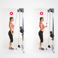 5. Straight Bar Cable Pressdown http://www.womenshealthmag.com/fitness/triceps-workout/slide/5
