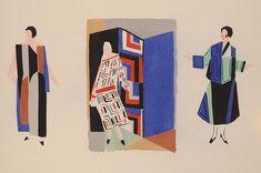 """Illustration for, """"Sonia Delaunay ; Ses Peintures, Ses Objets, Ses Tissus Simultanés, Ses Modes"""" Paris, 1925"""