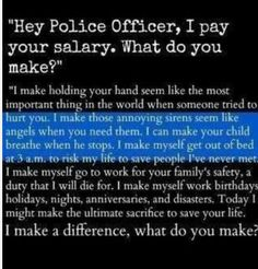 A police officer's salary