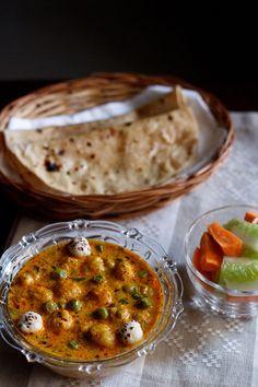 khoya matar makhana recipe - rich punjabi curry made with peas, fox nuts and khoya/evaporated milk. step by step recipe.