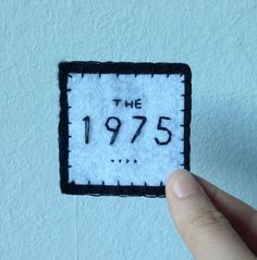 The 1975 handmade felt patch, brooch, pin, pinback, button, embroidery, embroidered by gigglygrapes on Etsy https://www.etsy.com/listing/269450853/the-1975-handmade-felt-patch-brooch-pin